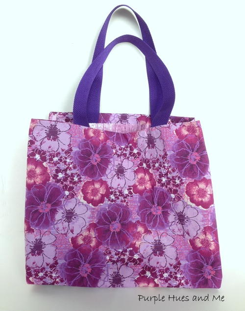 Fat Quarter and Duct Tape Tote Bag - No Sew_7