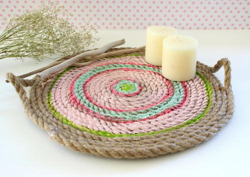 No Sew Rope Serving Dish