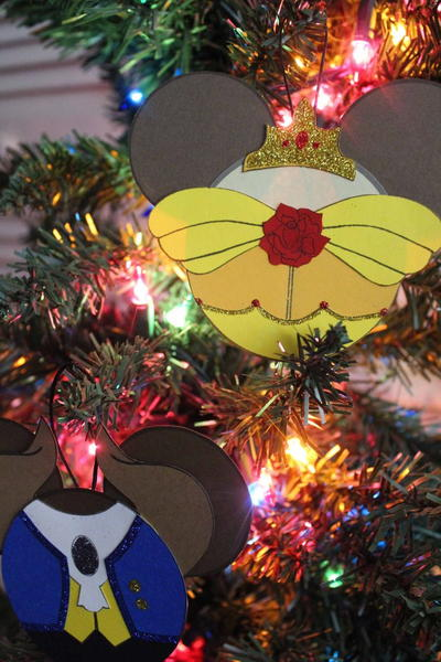 Belle and The Beast DIY Ornament