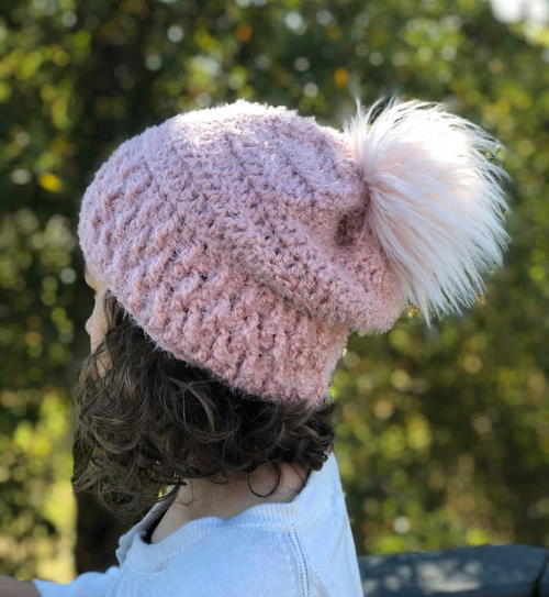 Cherry Blossom Slouchy Hat