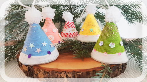 Easy Christmas Caps Decoration - Fun Family Craft