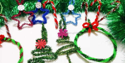 Easy To Make Pipe Cleaner Christmas Ornaments