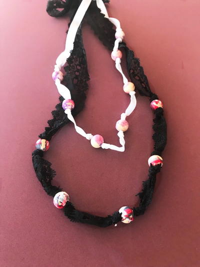 Marbled Bead Necklace _1