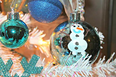 Disney Frozen Olaf Fingerprint Ornament
