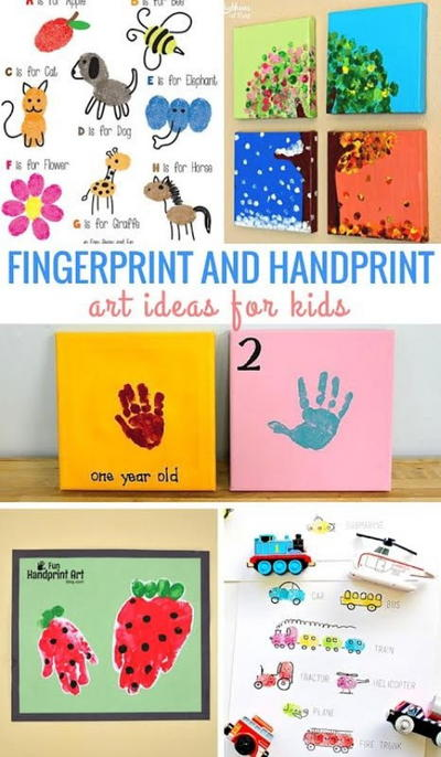 Fingerprint And Handprint Craft Ideas For Kids