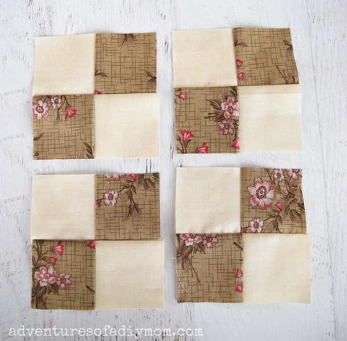 How To Sew A Four Patch Quilt Block