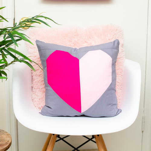Heart Block Pillow Pattern