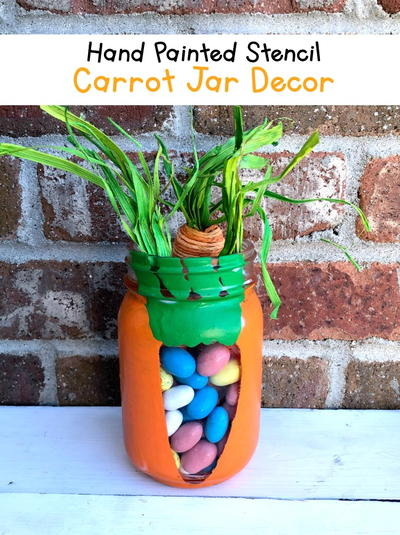 Easter Bunny Painted Jars