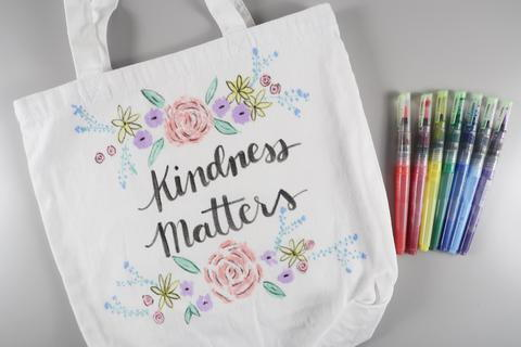 Watercolor Painted Tote Bag