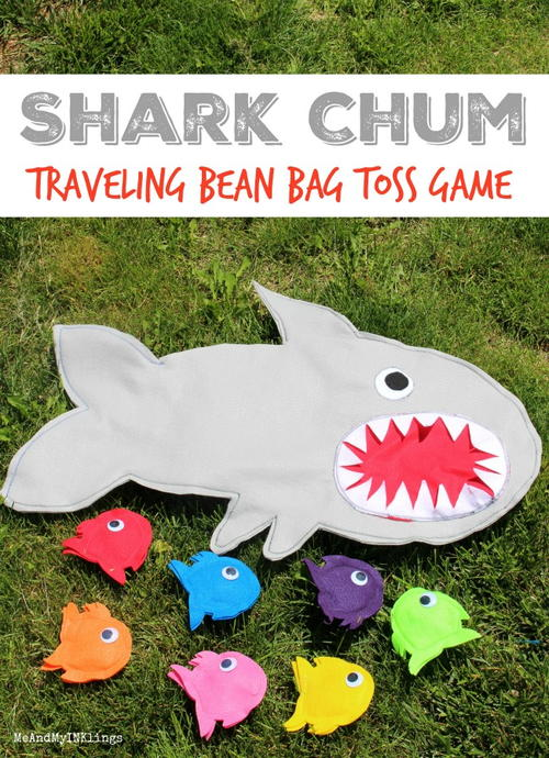 Diy Party Bean Bag Game (shark Themed)