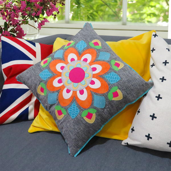 Spring Mandala DIY Throw Pillow