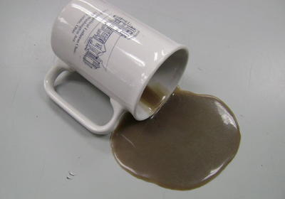 DIY Spilled Coffee Prank for April Fools Day