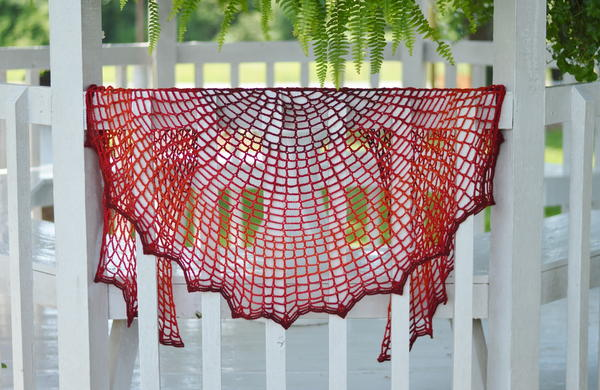 Sunset on Fire Crochet Shawl Pattern