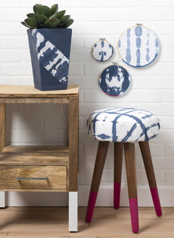 Shibori-Inspired DIY Decor