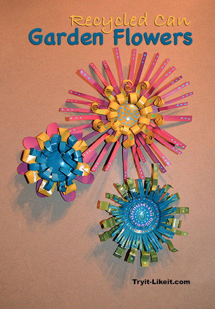 Recycled Can Garden Flowers