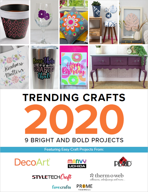 Trending Crafts 2020 10 Bright and Bold Projects