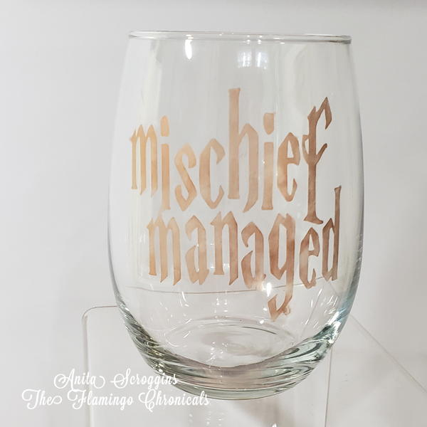 Harry Potter Themed Etched Glasses