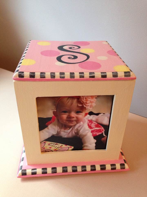 Personalized Baby Memory Cube