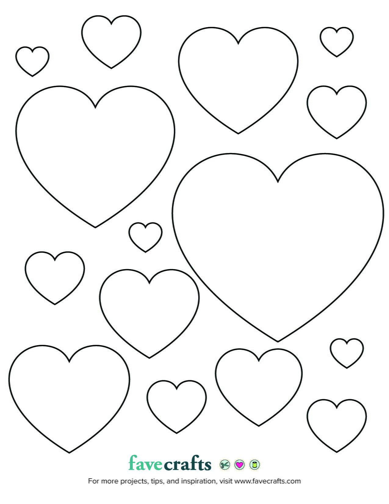 Printable Hearts Favecrafts Com