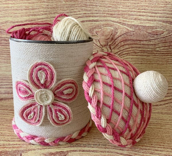 Twine Wrapped Tin Can And Top Diy