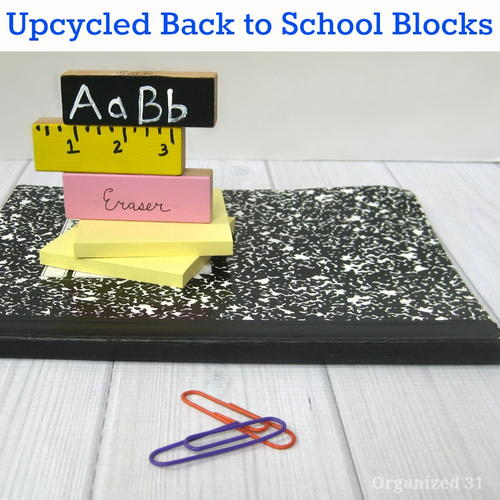 Back-to-school Theme Upcycled Craft