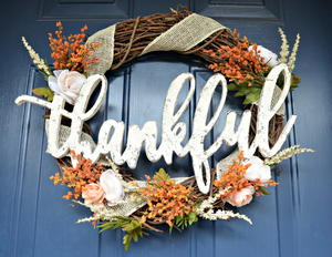 Charming Thanksgiving Wreath DIY