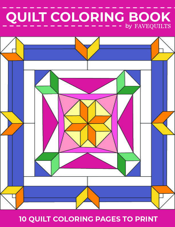 Quilt Coloring Book (Free Printable Quilt Coloring Pages) FaveQuilts.com
