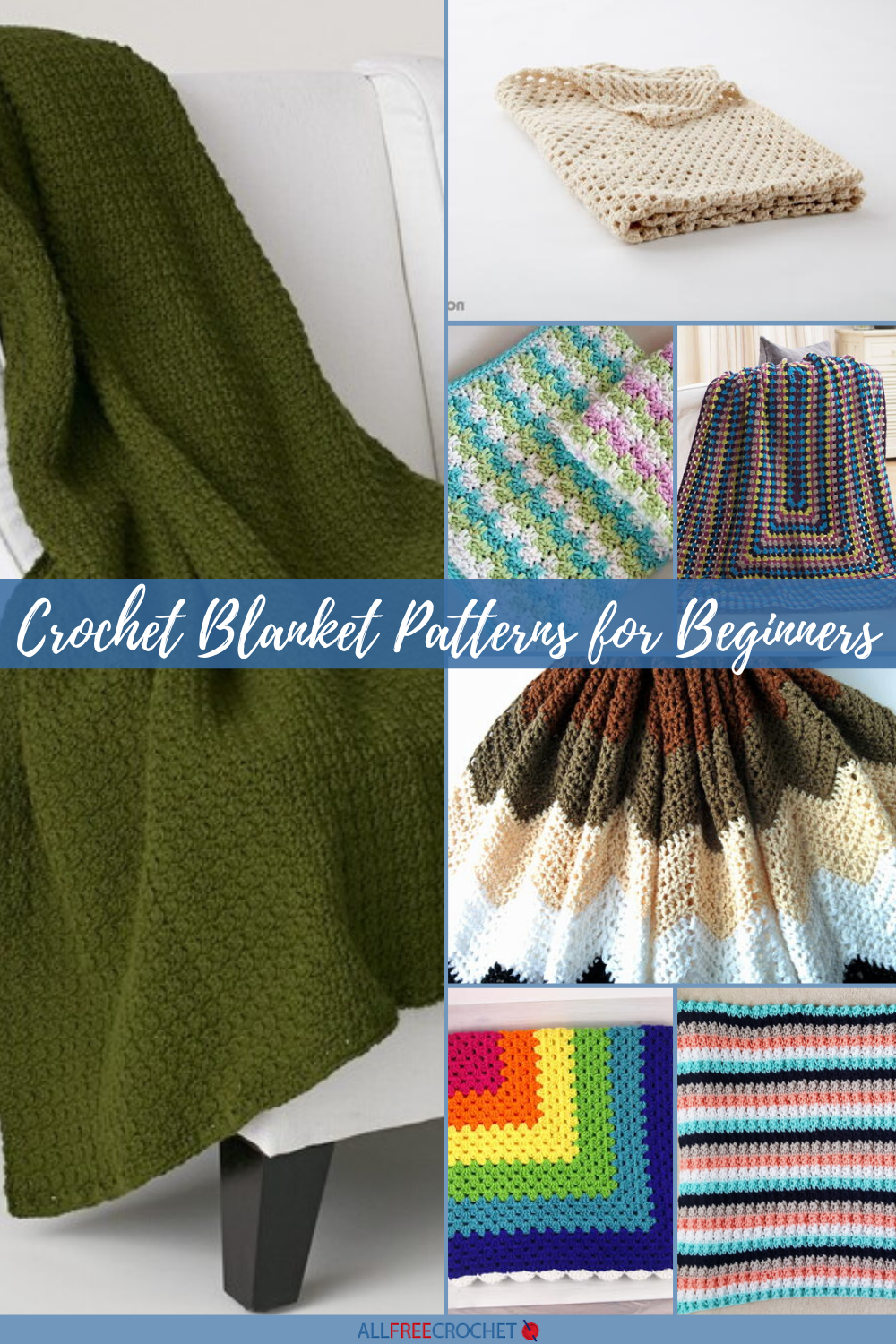 30 Beginner Crochet Blanket Patterns Free Allfreecrochet Com
