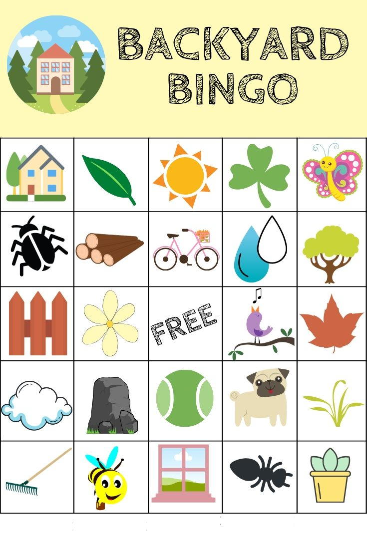 Free Printable Backyard Bingo Game Favecrafts Com
