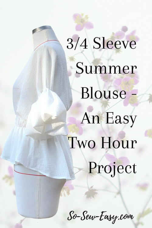 3/4 Sleeve Summer Blouse