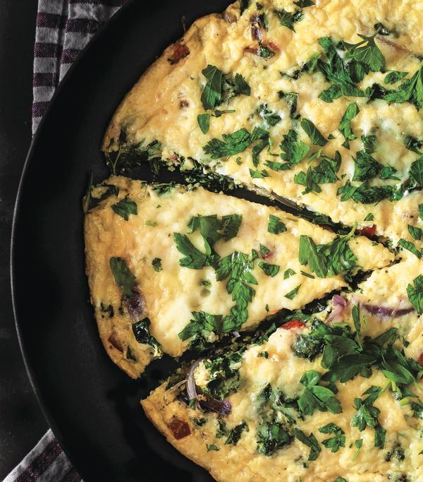 Sharp Cheddar and Kale Frittata