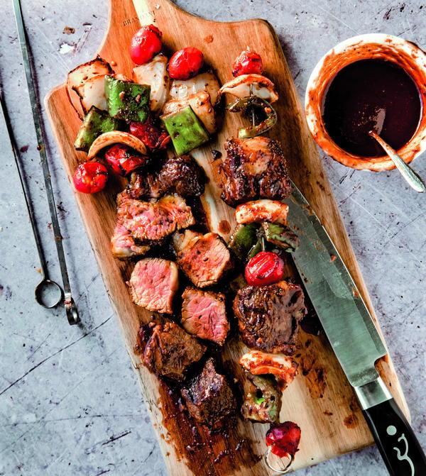 Steak Kebabs with Chinese Garlic Sauce
