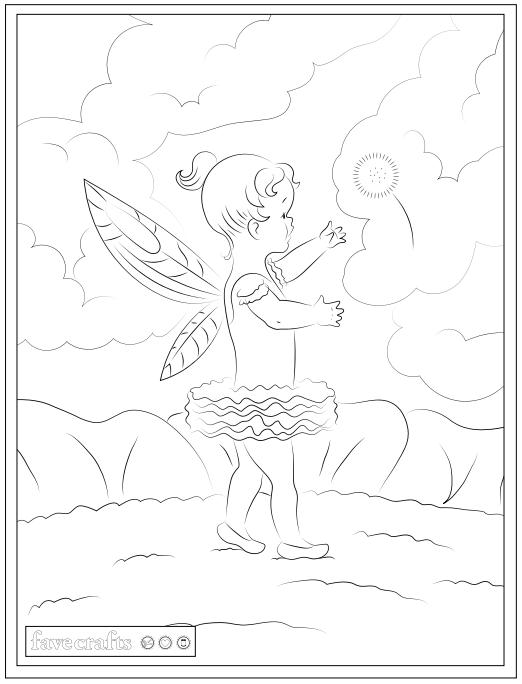 Baby Fairy Coloring Page Pdf Favecrafts Com