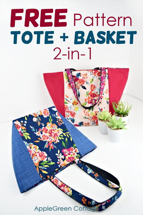 Free Market Tote Pattern - Plus You Can Turn It Into This!