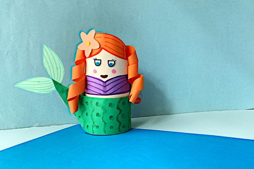 Toilet Paper Tube Mermaid Craft For Kids