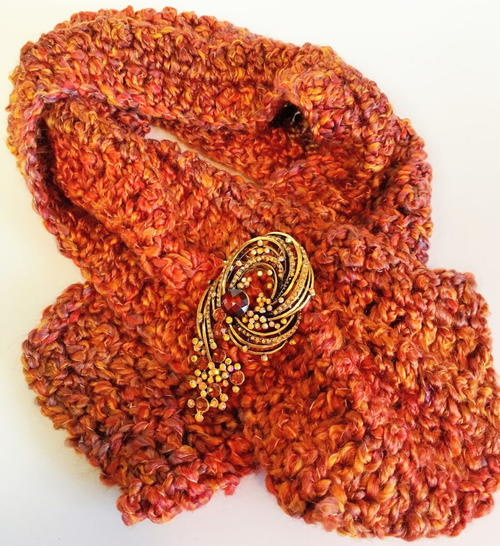 Golden Maple Fall Scarf