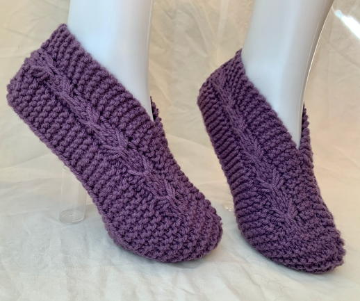 Adult & Child Knitted Slippers…with Bows!!