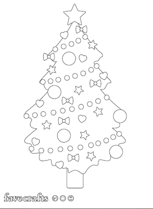 Cutest Christmas Tree Coloring Page