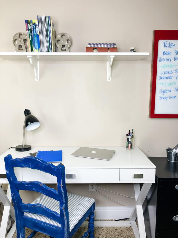 Desk Area with Shelf