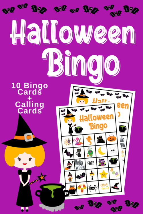 Free Printable Halloween Bingo Game For Kids