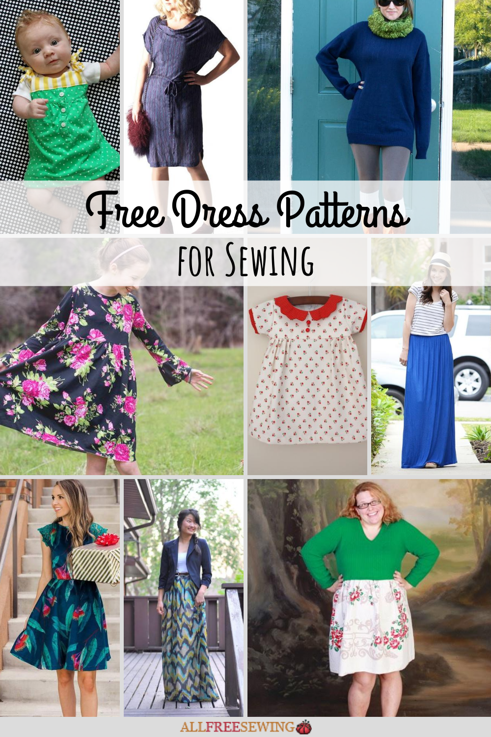 75 Free Dress Patterns To Sew For Women Girls Allfreesewing Com