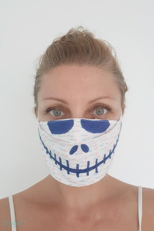 Halloween 3d Face Mask Pattern