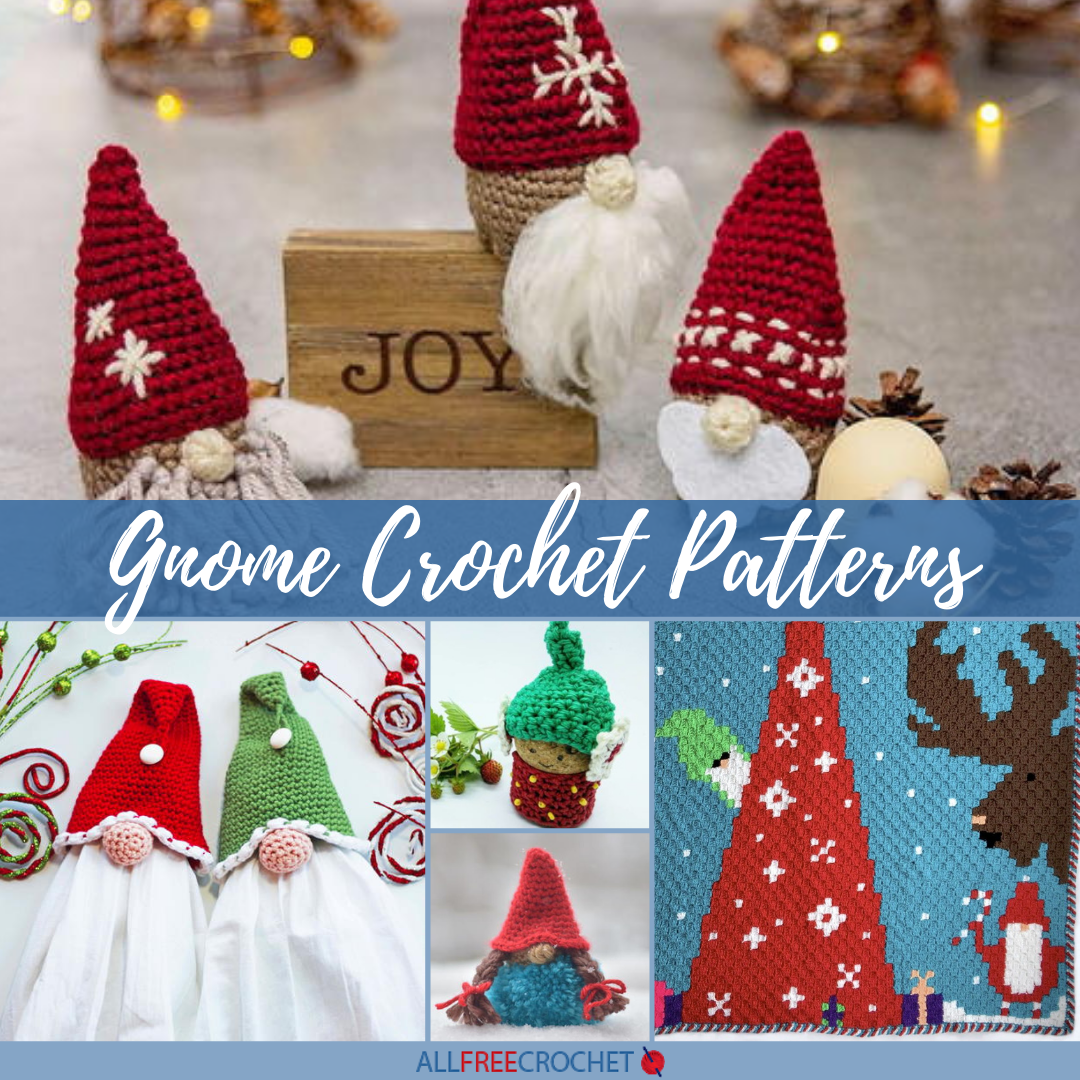 40 Gnome Crochet Patterns Allfreecrochet Com