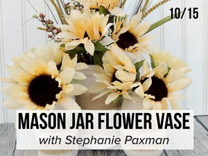 FaveCrafts Studio Live: Painted Mason Jar Vases