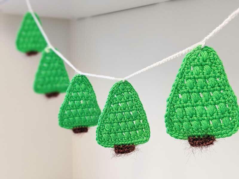 Christmas Tree Garland Allfreecrochet Com