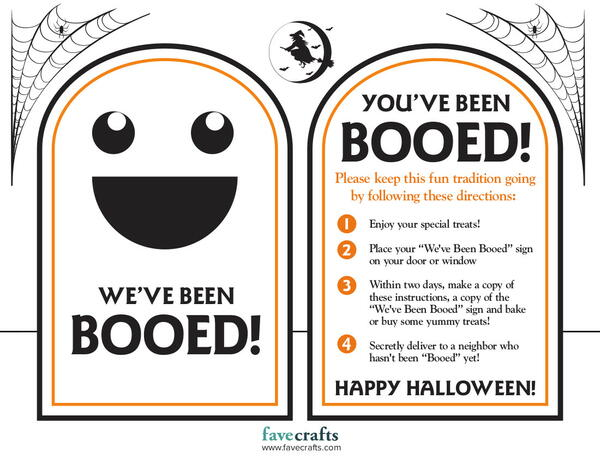 You've Been Booed Free Printable