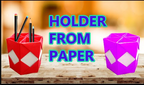 Holder From Paper Ii Pen Stand