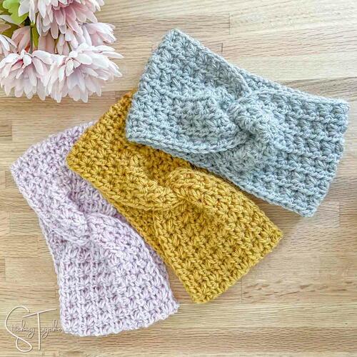 Courtney Crochet Twisted Headband