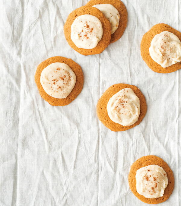 Soft Pumpkin Cookies with Browned Butter Frosting