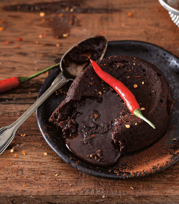 Chili Chocolate Lava Cakes